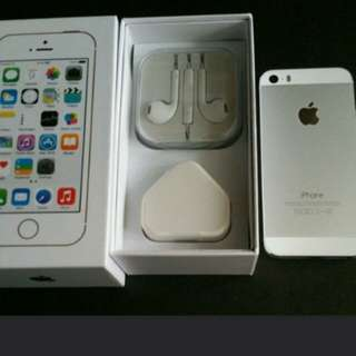 """99% sliver colour iPhone 5s 32gb, Hong Kong zp version,  full set with box. 3.8"""" original, like new, 100% working & good battery, full set new accessories, 7 days warranty.   3.8寸99% 新無花,港行zp, 100%全正常及電池良好"""