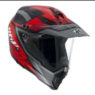 AGV AX-8 Dual Evo Multi Karakum Black Gunmetal Red