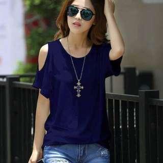 Coldshoulder blouse fits S-L