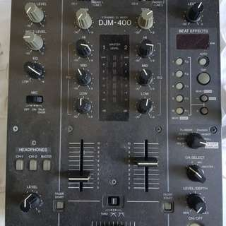 Pioneer DJM 400 2 channel mixer