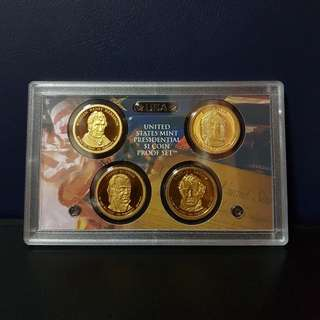 🇺🇸 2009 USA Presidential $1 Coin Proof Set (4pcs Set)
