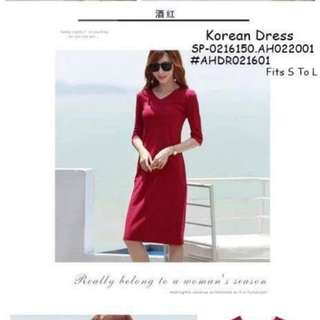 Korean dress fits S-L