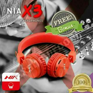 Rave Reviews - NIA Flagship Model X3. Free Gift With Every Purchase. Bright Orange. The Bluetooth Wireless Headset That Will Blow Your Mind But Not Your Pocket!!!