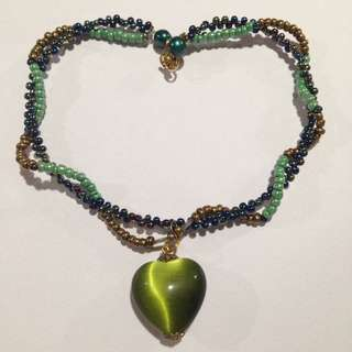 Heart Twisted Bead Necklace