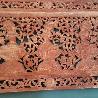 Bali teak wood wall Deco