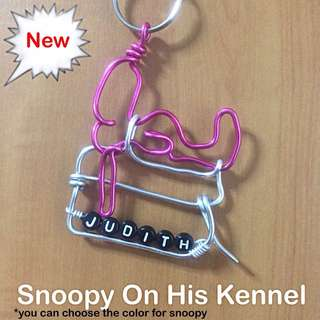 Snoopy On His Kennel Wirecraft Personalised Keychain [ Children's Day Teachers Valentine Christmas Raya New Year birthday graduation farewell gifts handmade uncle.anthony uncle anthony uac ] FOR MORE PICTURES & DETAILS, GO http://carousell.com/p/130210386