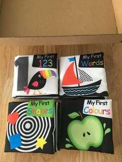 4 Pcs Brand New Educational Baby Cloth Books Laka Rose