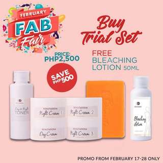 PROMO! Beautederm Trial Set with FREE Bleaching Lotion 50ml