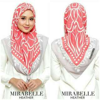 Tudung Bawal Mirabelle New Collection February