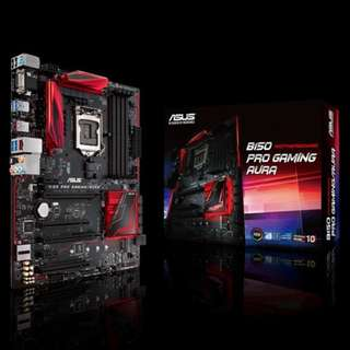 Asus B150 PRO GAMING/AURA | Intel® Socket 1151 for 6th Generation Core™ i7/Core™ i5/Core™ i3/Pentium®/Celeron® Processors | ATX | Dual-channel DDR4 2133 support | HDMI/RGB Ports