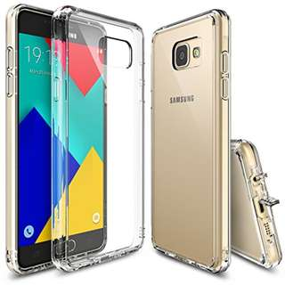 Galaxy A9 2016 Case, Ringke [FUSION] Crystal Clear PC Back TPU Bumper [Drop Protection/Shock Absorption Technology][Attached Dust Cap] For Samsung Galaxy A9 2016 - Clear