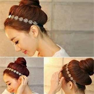 Rose Gold Flower Headband