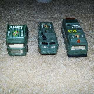 Army Miniature Battle Trucks