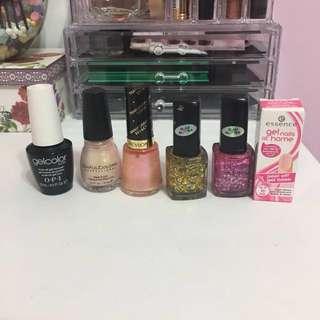 Nail polish and gel bundle- OPI, Revlon, more