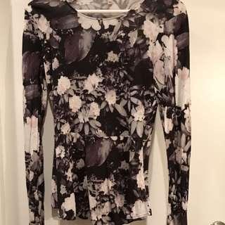 Wilfred Floral Long-Sleeve Peplum Top
