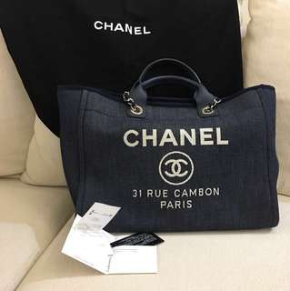 With Receipt: Chanel Deauville Tote (Authentic)