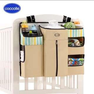 Baby crib diaper organiser