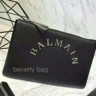 JUAL Clutch Balmain Leather Mirror - Black