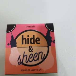 Benefit hide & Sheen