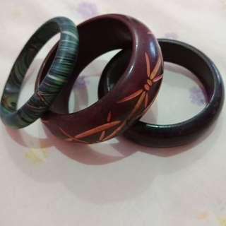 Wood bangles (3 for 15k)