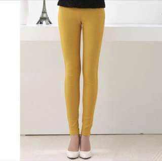 Yellow Leggings Pants