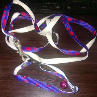 Used cat leash with bell free postage