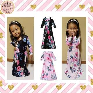 ⏰Limited Time Sale! Kids Floral Maxi Dress