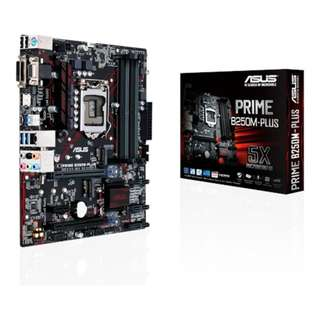 Asus PRIME B250M-PLUS | Intel® Socket 1151 for 7th/6th Generation Core™ i7/Core™ i5/Core™ i3/Pentium®/Celeron® Processors | micro-ATX (mATX) | DDR4 2400MHz Memory Support | DMI/DVI-D/RGB Ports