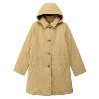 Muji無印良品 女裝綿褸中長外套