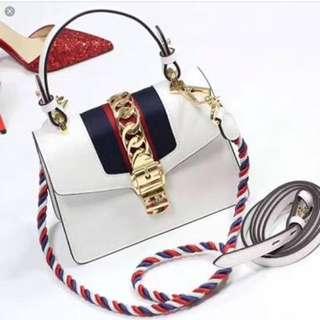 GUCCI Sylvie mini hand bag NIB