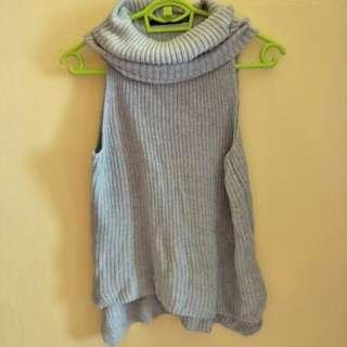 Sportsgirl Rollneck Asymmetrical Knitted Top