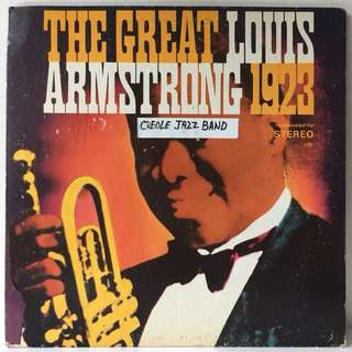 Louis Armstrong, King Oliver's Creole Jazz Band ‎– The Great Louis Armstrong 1923 (1960s US Pressing in Gatefold Sleeve - Vinyl is Mint)