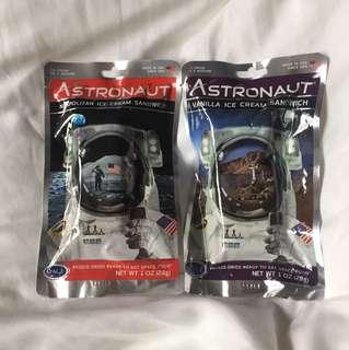 美國購入太空人食品(冰淇淋)(兩種口味)