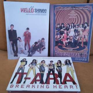 Hello shinee, T-ARA and Girl Generation Album Package