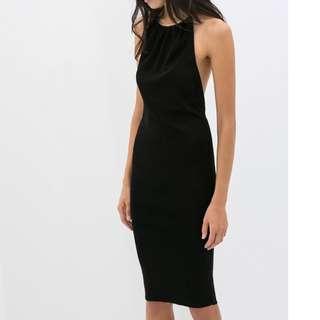 Zara knit sexy black dress