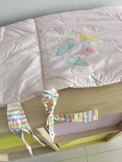 Mothercare bumper pad for baby cut