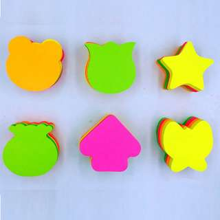 Colorful and Diff.Shapes Post Its