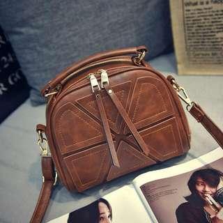 P U Leather Shoulder Messenger Bag