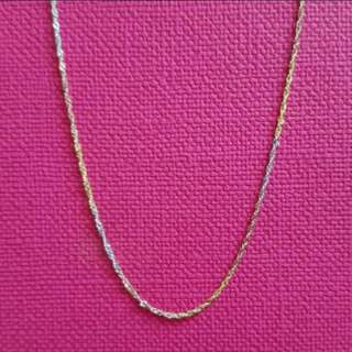 "14K585 3/Colors Gold Necklace 14K585三色金意大利頸鍊16""Long                        100% Genuine and ItalyGold"