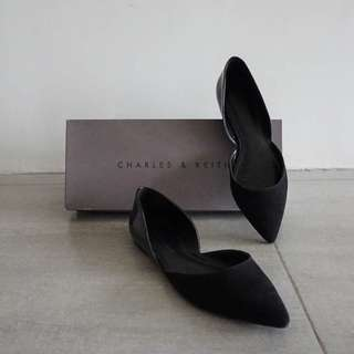 D'orsay Pointed Flats (Black)