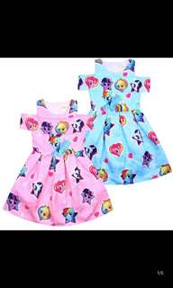 PO My Little Pony cold shoulder dress brand new size 100-140cm other character available too pm me For Details