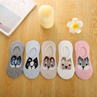 Korean Cute Puppy Short Ankle Socks