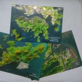 (送) 3D衛星圖像明信片postcard