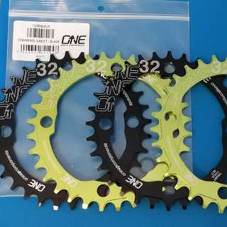 OneUp Components 104bcd Chainring 32T - Green / Black