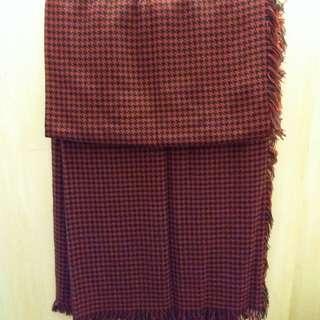 紅黑格頸巾(可議價)