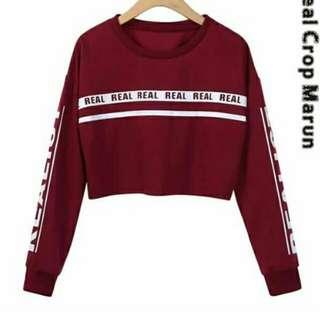Sweater crope BARU TERMURAH