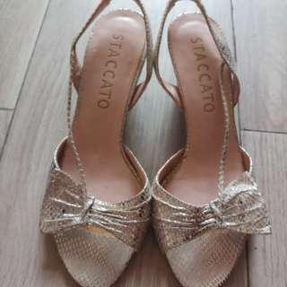 高貴 銀色 涼鞋 staccato