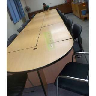 VISITOR CHAIRS (FOR CONFERENCE AREA)  BLACK LEATHERETTE