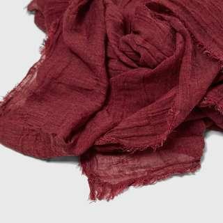 Zara Basic Fringed Foulard Scarf