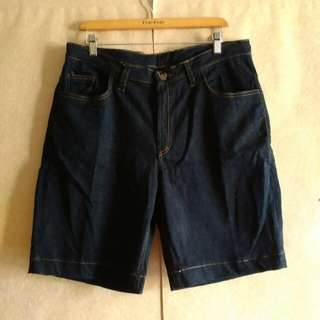 Celana pendek jeans Pria